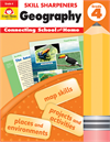 Book Cover: Evan Moor Skill Sharpeners Geography, Grade 4
