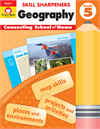 Book Cover: Evan Moor Skill Sharpeners Geography, Grade 5