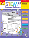 Book Cover: Evan MoorSTEM Lessons & Challenges, Grade 3