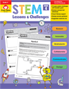 Book Cover: Evan Moor STEM Lessons & Challenges, Grade 4