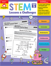 Book Cover: Evan Moor STEM Lessons & Challenges, Grade 5