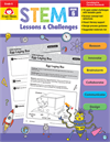 Book Cover: Evan Moor STEM Lessons & Challenges, Grade 6